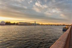 Τοπίο Nevsky με το Kunstkamera Στοκ εικόνα με δικαίωμα ελεύθερης χρήσης