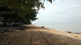 Τοπίο Pantai Pengkalan Balak, Melaka στοκ εικόνα