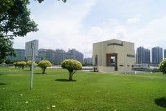 Τοπίο plaza προκυμαιών Baoan Shenzhen, στην Κίνα Στοκ εικόνα με δικαίωμα ελεύθερης χρήσης