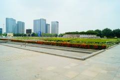 Τοπίο plaza προκυμαιών Shenzhen Baoan Στοκ φωτογραφίες με δικαίωμα ελεύθερης χρήσης