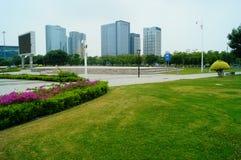 Τοπίο plaza προκυμαιών Shenzhen Baoan Στοκ Εικόνες