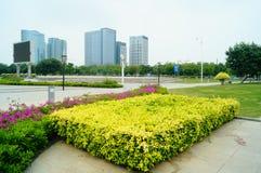 Τοπίο plaza προκυμαιών Shenzhen Baoan Στοκ εικόνα με δικαίωμα ελεύθερης χρήσης