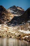 Τοπίο pleso Popradske σε υψηλό Tatras, Σλοβακία Στοκ εικόνες με δικαίωμα ελεύθερης χρήσης