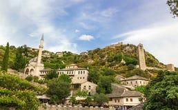Τοπίο Pocitelj, Βοσνία-Ερζεγοβίνη Στοκ εικόνα με δικαίωμα ελεύθερης χρήσης