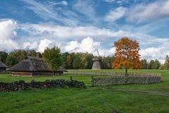 Τοπίο Rumsiskes Λιθουανία φθινοπώρου σκηνής επαρχίας Στοκ Εικόνες