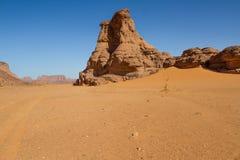 Τοπίο Sahara's Tassili N'Ajjer, νότια Αλγερία Στοκ εικόνες με δικαίωμα ελεύθερης χρήσης