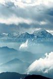 τοπίο sichuan βουνών ganzi της Κίνας βοοειδών στοκ φωτογραφία με δικαίωμα ελεύθερης χρήσης
