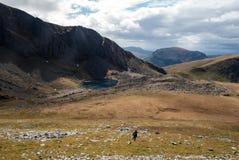 Τοπίο Snowdonia με τη λίμνη Στοκ εικόνα με δικαίωμα ελεύθερης χρήσης