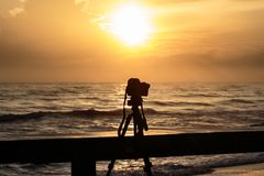 Τοπίο sunrises και sunsets φωτογράφος Στοκ Εικόνες