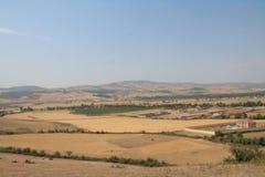 Τοπίο Talistan Ismayilly Τομείς και λόφος στοκ φωτογραφία