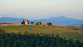τοπίο tuscan χαρακτηριστικό Στοκ Φωτογραφία