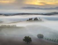 τοπίο tuscan Όμορφο Tuscan πρωί Στοκ φωτογραφίες με δικαίωμα ελεύθερης χρήσης