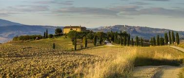 τοπίο tuscan Όμορφο Tuscan πρωί Στοκ Φωτογραφίες