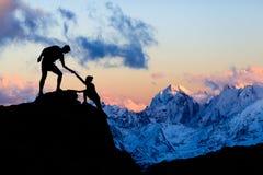 Τοπίο Ushba, Καύκασος βουνών στοκ φωτογραφία με δικαίωμα ελεύθερης χρήσης