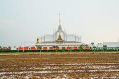 Τοπίο wat Ταϊλανδός στο chachoengsao Στοκ φωτογραφία με δικαίωμα ελεύθερης χρήσης