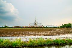 Τοπίο wat Ταϊλανδός στο chachoengsao Στοκ εικόνες με δικαίωμα ελεύθερης χρήσης