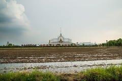 Τοπίο wat Ταϊλανδός στο chachoengsao Στοκ Εικόνα