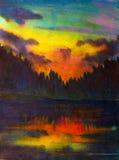 Τοπίο Watercolor Στοκ Φωτογραφίες
