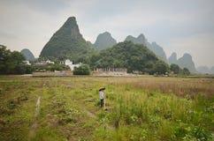 Τοπίο Yangshuo Στοκ εικόνα με δικαίωμα ελεύθερης χρήσης