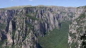 Τοπίο Zagoria φαραγγιών Vikos απόθεμα βίντεο