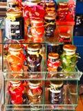 Τοπικά παραχθείσες κονσέρβες φρούτων, Γαλαξείδι, Ελλάδα στοκ εικόνα με δικαίωμα ελεύθερης χρήσης