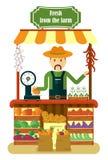 Τοπικά προϊόντα λαχανικών πώλησης αγροτών αγοράς Στοκ Εικόνες