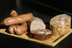 Τοπικά σπιτικά προϊόντα κρέατος στοκ φωτογραφία με δικαίωμα ελεύθερης χρήσης