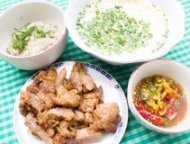 Τοπικά τρόφιμα της Ταϊλάνδης Στοκ εικόνα με δικαίωμα ελεύθερης χρήσης