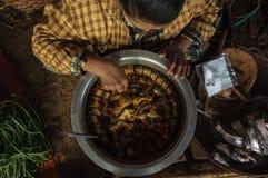 Τοπικά τρόφιμα του Μιανμάρ Στοκ Φωτογραφία