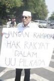 τοπικές εκλογές διαμαρτυρίας δράσης μονολόγων στοκ φωτογραφία