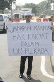τοπικές εκλογές διαμαρτυρίας δράσης μονολόγων στοκ εικόνα
