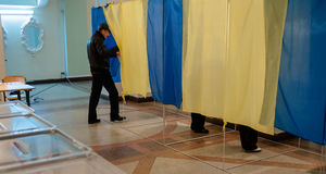 Τοπικές εκλογές στην Ουκρανία Στοκ Εικόνες