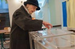 Τοπικές εκλογές στην Ουκρανία Στοκ φωτογραφία με δικαίωμα ελεύθερης χρήσης