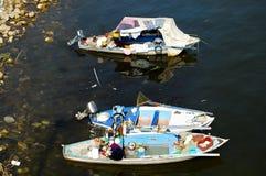 Τοπικές ξύλινες βάρκες στο Νείλο στοκ φωτογραφία