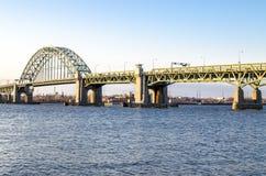Τοπική γέφυρα πέρα από τον ποταμό του Ντελαγουέρ Στοκ Εικόνες