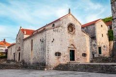 Τοπική εκκλησία στο χωριό Blato σε Korcula στην Κροατία Στοκ φωτογραφία με δικαίωμα ελεύθερης χρήσης
