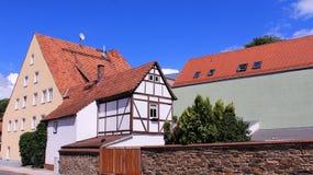 Τοπική ιστορική παλαιά πόλη κτηρίου Freiberg Στοκ Φωτογραφία