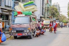 Τοπική μεταφορά στο Μιανμάρ Στοκ εικόνες με δικαίωμα ελεύθερης χρήσης