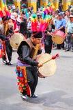 Τοπική παίζοντας μουσική ατόμων κατά τη διάρκεια του φεστιβάλ Virgin de Λα Cand Στοκ φωτογραφία με δικαίωμα ελεύθερης χρήσης