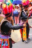 Τοπική παίζοντας μουσική ατόμων κατά τη διάρκεια του φεστιβάλ Virgin de Λα Cand Στοκ εικόνα με δικαίωμα ελεύθερης χρήσης