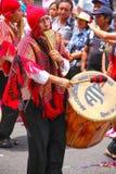 Τοπική παίζοντας μουσική ατόμων κατά τη διάρκεια του φεστιβάλ Virgin de Λα Cand Στοκ Εικόνες