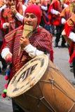 Τοπική παίζοντας μουσική ατόμων κατά τη διάρκεια του φεστιβάλ Virgin de Λα Cand Στοκ εικόνες με δικαίωμα ελεύθερης χρήσης