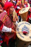 Τοπική παίζοντας μουσική ατόμων κατά τη διάρκεια του φεστιβάλ Virgin de Λα Cand Στοκ Φωτογραφία