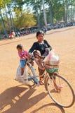 Τοπικοί άνθρωποι σε Angkor Wat, Καμπότζη Στοκ εικόνες με δικαίωμα ελεύθερης χρήσης