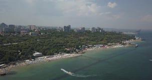 Τοπικός πυροβολισμός pan Recration παραλία αθλητισμός 4K Διασκέδαση Καλοκαίρι απόθεμα βίντεο