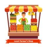Τοπικός φύλακας καταστημάτων προϊόντων αγροτών απεικόνιση αποθεμάτων
