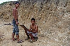 Τοπικό κούρεμα υπαίθρια στο κράτος πηγουνιών, το Μιανμάρ Στοκ φωτογραφία με δικαίωμα ελεύθερης χρήσης
