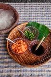 Τοπικό πρόχειρο φαγητό Kriab Yana Khao της απαγόρευσης Nam Chiao, Trat, στρεπτόκοκκος της Ταϊλάνδης στοκ φωτογραφίες με δικαίωμα ελεύθερης χρήσης