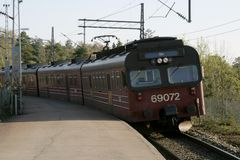 τοπικό τραίνο του Όσλο στοκ εικόνες