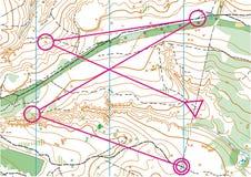 Τοπογραφικός διανυσματικός χάρτης Στοκ φωτογραφίες με δικαίωμα ελεύθερης χρήσης